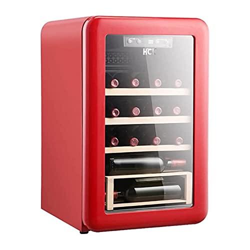 XTZJ 20 Botella de compresor refrigerador de vino refrigerador con bloqueo | Gran bodega independiente | Frigorífico de vino de control de temperatura digital 41F-64F para rojo, blanco, champagne o vi