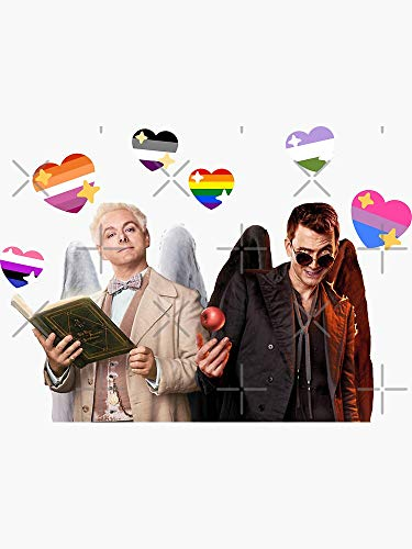 Good Omens Said Gay Rights Sticker - Sticker Graphic -Stickers for Hydroflask Water Bottles Laptop Computer Skateboard, Waterproof Decal Stickers