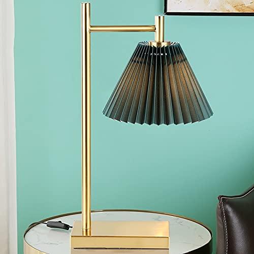 Zenghh Geometría moderna Lámpara de mesa de cobre Nórdico Oro Japonés Pantalón...