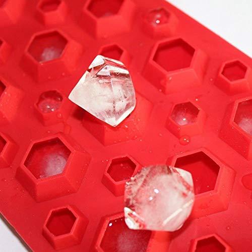 FEF 3D Diamonds Gem Cool Ice Cube Bandeja de jabón de Chocolate Molde Moldes Pendientes