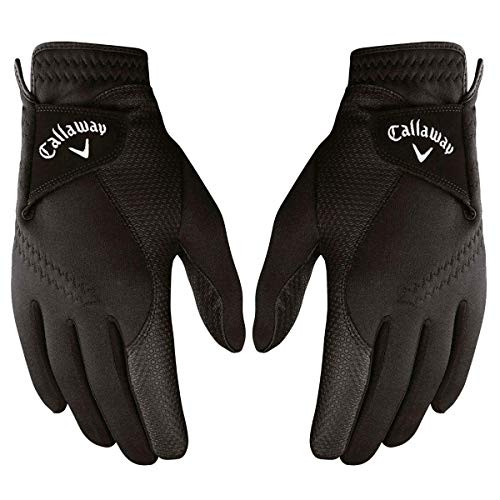 Callaway 2019 Men's Thermal Grip Golf Gloves (Pair), Black, Small