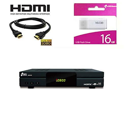 Kit Receptor SATELITE IRIS 9800 HD COMBO- DIGITALIA- Regalo Memoria USB 16GB +...