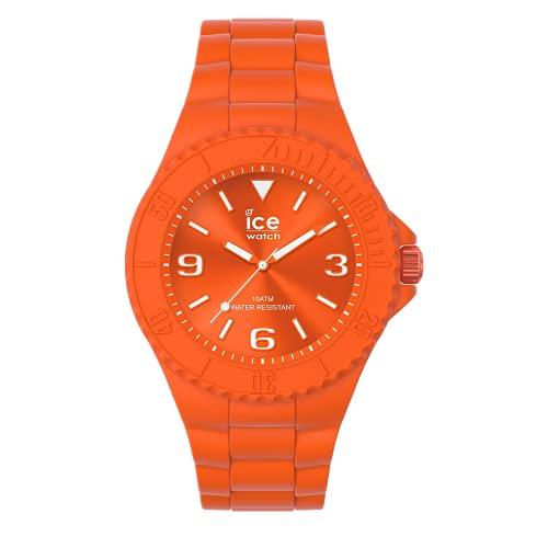 ICE-WATCH ICE Generation Flashy Orange - Reloj Naranja para Hombre con Correa de Silicona, 019162 (Medium)