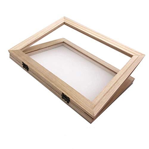 Sanmum Papierbastelwerkzeuge, Holz, Papierherstellung, Rahmen für Kinder, Teenager, Lehren, 2 in 1 (34 x 25 x 3 cm)