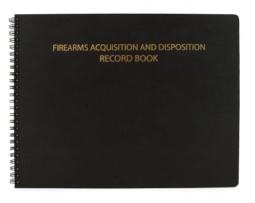 "BookFactory Gun Log Book/Firearms Acquisition & Disposition Record Book - 100 Pages, Black-TransLux Cover - Wire-O, 11"" x 8 1/2"" (LOG-100-GUN-W01-T35)"