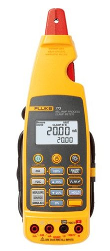 Fluke 773 Advanced Milliamp Process Clamp-Meter, 100mA DC, 0.01mA Resolution, Conductors to 4.5mm, Voltage Measurement with a NIST-Traceable Calibration Certificate with Data