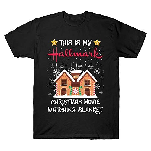 This is My Hallmark Christmas Movie Watching Blanket T-Shirt Hallmark Movie Lovers, Christmas Family Matching Gifts T-Shirt Black