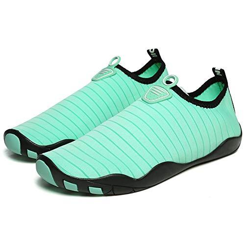 KCCCC Zapatos de Agua Slip-Zapatos en la Playa de Buceo Resistente al Deslizamiento de los Hombres al Aire Libre Wading River Zapatos para Mujeres Hombres (Color : Light Green, Tamaño : 37-38)