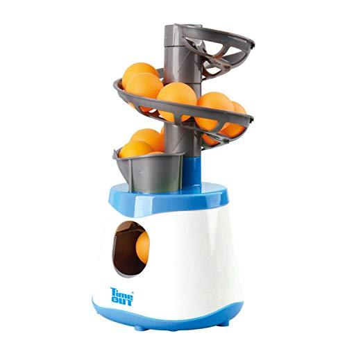 MYRCLMY Mini Mesa Tenis Robot Servicio Lanzador Máquina Transporte para Niños Adulto Deporte Juego Regalo Raqueta Deporte 40+ Ping Pong Ball Niños Tenis Contacto Juguete,Azul