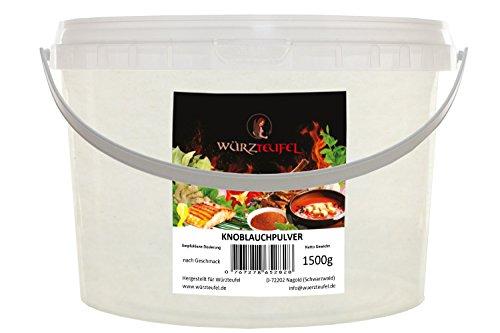 Knoblauch fein gemahlen, Gewürz – Knoblauch, Knoblauchpulver, Premiumqualität aus Europäischer Union. PE - Eimer 1500g. (1,5 KG)