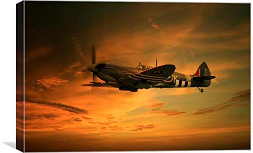 Photo4me J Biggadike Leinwandbild Spitfire Glory (305 x 457 mm)