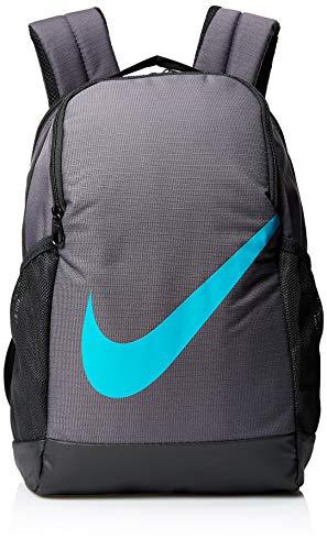 Nike Unisex Kinderrucksack, Unisex Kinder, Rucksack, BA6029, Thunder Grey/Black/Teal Nebula, Misc