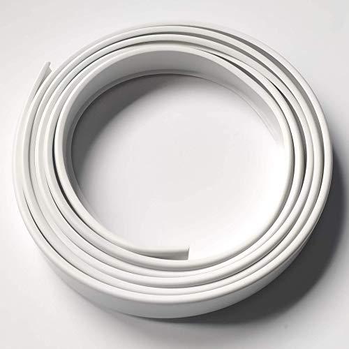 2B16 Cubrecanto de plástico flexible en U (umolding) (16 mm., BLANCO). Tira de 2 metros