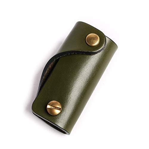 レザー 革 moca キーケース 01 おしゃれ コンパクト シンプル メンズ ヌメ革 プレゼント (Olive)
