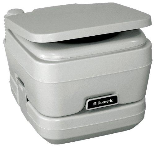 Dometic 301096206 2.5 Gallon Portable Toilet, Platinum