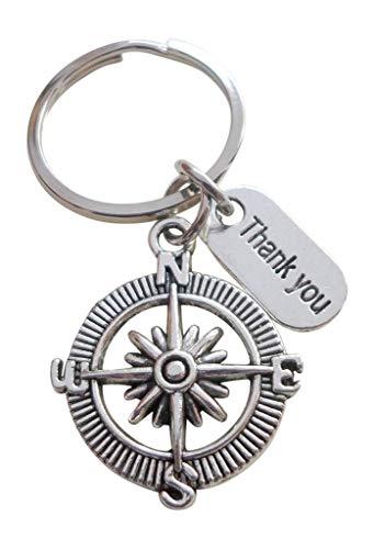 JewelryEveryday igenkänningsgåva nyckelhängare, tack kompass, tack för all din rådgivning Thank you for all your guidance