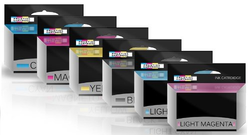 Prestige Cartridge Combo Pack - Compatible con HP 84 & 85 Cartuchos de Tinta para HP Designjet 130, 130gp, 130nr, 130r, 30, 30gp, 30n, 90, 90gp, 90r Impresoras - UN Juego: Amazon.es: Oficina y papelería