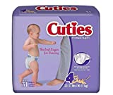 Cuties - CR4001 - Prevail Cuties Baby Diapers Size 4, 22 - 37 lbs.
