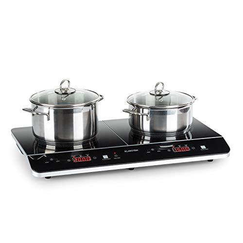 Klarstein VariCook Neo Doble placa de cocina de inducción - Cocina portátil,...