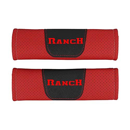 Protector de cojín de hombro para cinturón de seguridad de estilo de coche de cuero Pu,para Fiat Ranch,accesorios de estilo de coche, 2 piezas