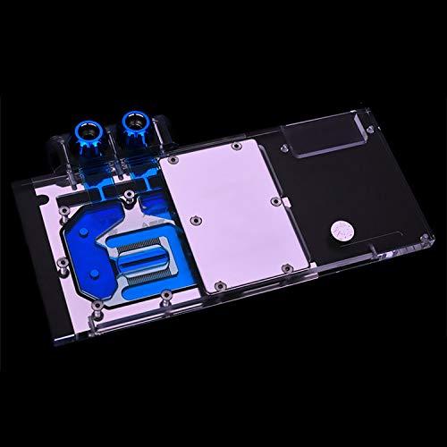 Water Block use for AMD Sapphire Nitro+ Radeon RX Vega 64 8GB HBM2 (11275-03-40G) Full Cover GPU Copper Block with 12V 4PIN RGB