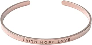 Christian Bracelet | Crafted from Tarnish Resistant Silver, 18k Rose Gold Coated & 18k Gold Coated Material | Adjustable for All Wrist Sizes | Suitable for Men and Women