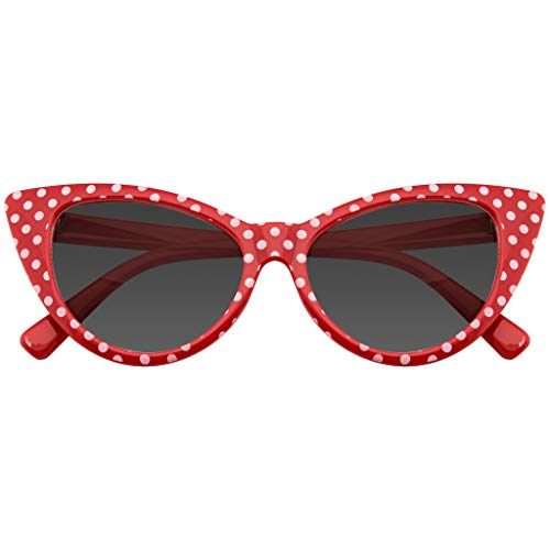 Emblem Eyewear Polka Dot Gato Ojo Mujeres Mod Super Gato Gafas De Sol Moda...