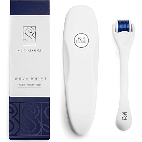 Dermaroller 0,5mm - Microneedling Narbenroller für Gesicht, Körper, Haar - Needling Bartroller mit Titannadeln - Inkl. Aufbewahrungsetui