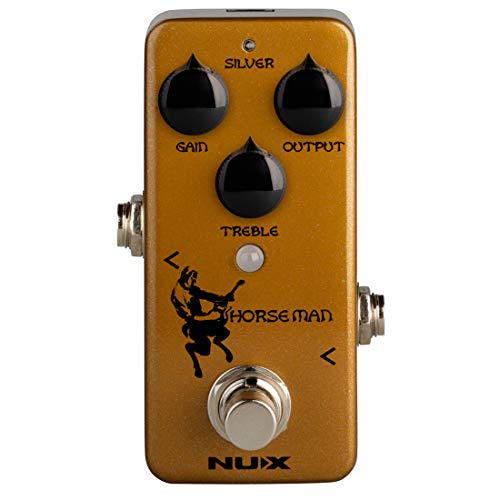 NUX Horseman Overdrive Guitar Effect Pedal with Gold and Silver modes