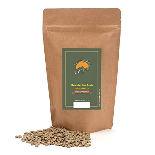 Rwandan Fair Trade Green Unroasted Coffee Beans 12oz