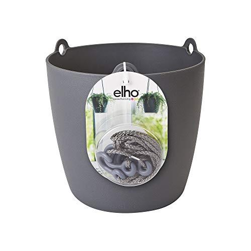 Elho Brussels Hanging Basket Maceta Colgante, Anthracite, 18 cm