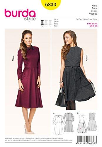 Burda Schnittmuster Kleid 6833