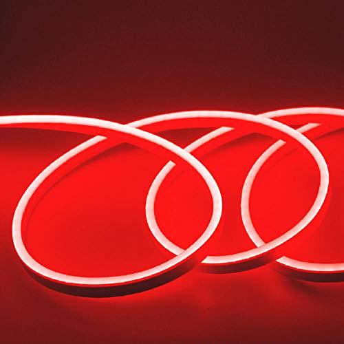 LED-Streifen Flexibles Neonlicht 12V Wasserdichtes LED-Bandseil Dimmen Flex Tube Tape-rot_4M