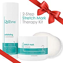 ReTone Stretch Mark Removal: Comprehensive Stretch Mark Treatment (Stretch Mark Cream + Body Cleanser + Body Scrubber)