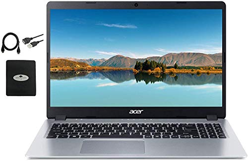 2020 Newest Acer Aspire 5 Slim Laptop 15.6' FHD IPS Display, AMD Ryzen 3 3200u (up to 3.5GHz), Vega 3 Graphics, 8GB RAM DDR4, 256GB PCIe SSD, Backlit KB,WiFi,HDMI, Win10 w/Ghost Manta Accessories