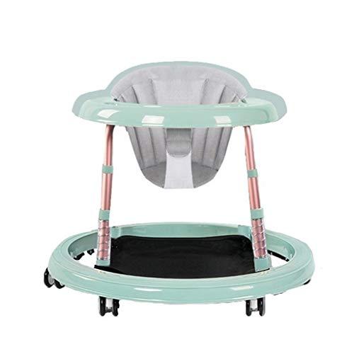 BLWX LY Girello Regolabile per Bambini e Bambine dai 6 Mesi, Verde Rotondo Leggero con Cuscino Regolabile, Completamente assemblato