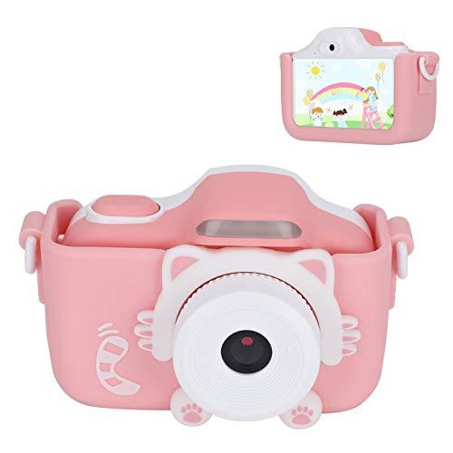 Goshyda Cámara para niños, cámara Digital portátil de grabación de Video WiFi con Pantalla táctil IPS HD de 3.0in con Cordones, Regalo para niños, niñas y niños Tomando Fotos(Rosa)
