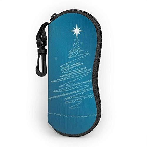 Funda de goma para árbol de Navidad con clip de cinturón, funda portátil con cremallera de neopreno ultraligera, funda flexible para niñas, mujeres y hombres