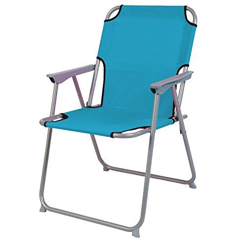 Praktisch en goed. Campingstoel, vouwstoel, stof, petrol, camping-klapstoel, visstoel, visstoel, metaal