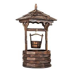DEKORATIV: Mit dem Blumfeldt Loreley Garten-Brunnen verleihen Sie Ihrem Garten neuen Flair. Vollkommen aus Tanneholz gefertigt, weckt der 125 cm hohe Deko-Brunnen sofort Erinnerungen an den Froschkönig und holt den Wunschbrunnen direkt zu Ihnen nach ...