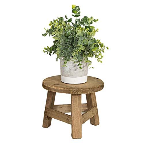 bozitian Taburete de madera para flores, soporte de exposición decorativo, taburete para macetas, taburete de madera maciza, decoración para macetas, taburete.