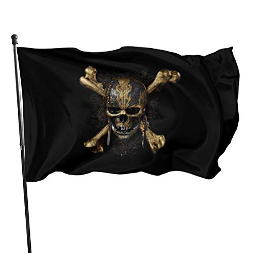 BHGYT Fluch der Karibik Flagge 3x5 FtDecorative Outdoors Anti UV Fading Innen Flaggen Saisonale und Holiday Yard Flag Banner Polyester 3x5 Fuß