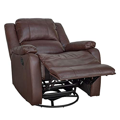 RecPro Charles Collection | 30' Swivel Glider RV Recliner | RV Living Room (Slideout) Chair | RV Furniture | Glider Chair | Espresso