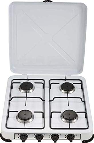 Fornello a gas GPL campeggio cucina portatile 1 2 3 4 fuochi (4 FORNELLI GPL)