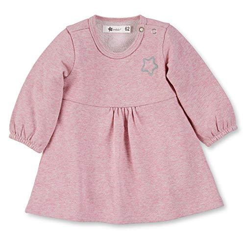 Sterntaler Sweatkleid für Mädchen mit langen Ärmeln und Glitzereffekt, Alter: 3-4 Monate, Größe: 56, Rosa, 5731900