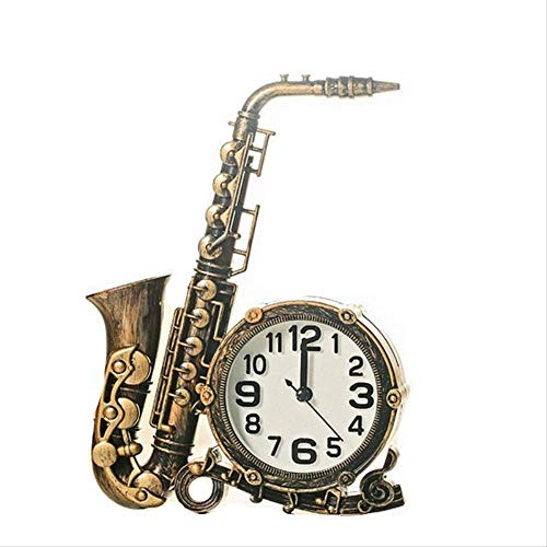 Gdxy Wekker Europese Ornamenten Muziek Staande Klok Instrument Bureau Nachtkastje Ouderwetse Alarm Klok