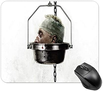 PPJ Saw IV It s A Trap White Mouse pad Gaming for Wireless Horror Movies Mouse Office League product image