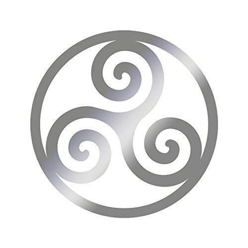 Sticker logo Triskel Adhésif Autocollant - Plusieurs coloris disponibles Argenté