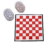 Tablero de ajedrez Ligero Rojo y Blanco Juego de ajedrez de Viaje magnético con Tablero Que se Convierte en un Compartimento de Almacenamiento - Gran Juego de Juguetes de Viaje