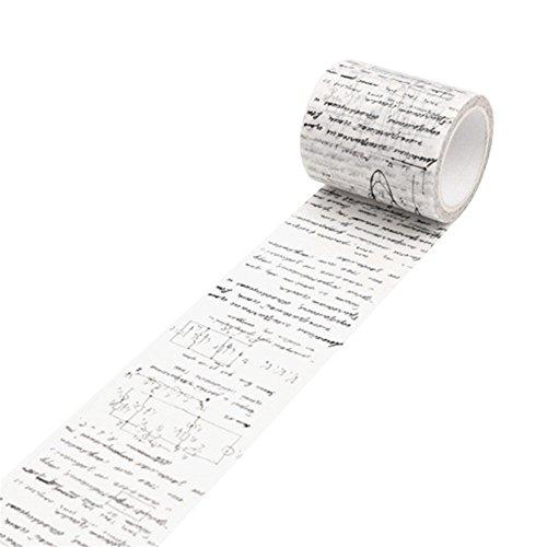 beiguoxia Vintage decorativa Washi–Cinta adhesiva con estampado (cinta de carrocero DIY–recortes de Vinilo talla única Formula